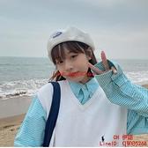 日系新款棉麻透氣貝雷帽子女夏季韓版街頭百搭畫家帽薄款【CH伊諾】