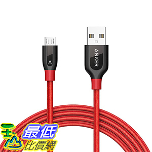 [美國直購] Anker PowerLine+ Micro USB (6ft) The Premium Most Durable Cable for Samsung Nexus LG Android 傳輸線 四色可選