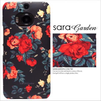 HTC M9+ 手機殼 客製化 保護殼 碎花玫瑰花