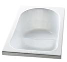 【麗室衛浴】BATHTUB WORLD LS-9418 壓克力橢圓造型空缸崁入型1200*700*600MM