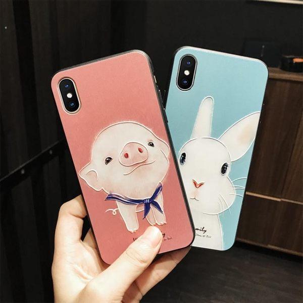 手機殼 蘋果iphone x手機殼全包防摔浮雕個性軟邊日韓卡通新款可愛萌女款 雙11狂歡購物節