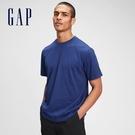 Gap男裝 基本款素色圓領短袖T恤 680985-藍色