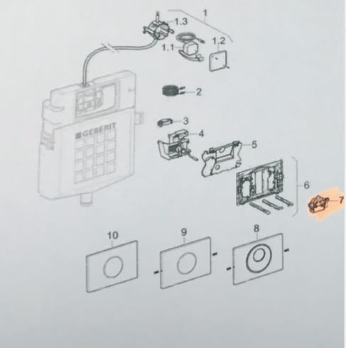 【麗室衛浴】瑞士原裝 GEBERIT 241.476.00.1 隱藏水箱感應電子眼