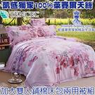 16新品大特價4280元【凱盛寢具】100%純萊賽爾天絲-夢幻‧唯美-加大雙人餔棉床包兩用被組-6X6.2尺