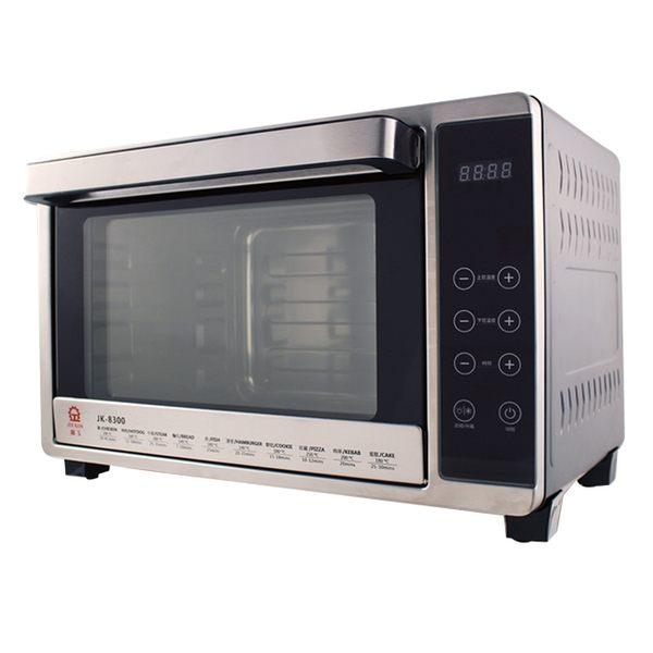 送陶瓷刀3件組★晶工牌★32L微電腦雙溫控不鏽鋼旋風烤箱 JK-8300