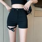 休閒短褲 夏季新款高腰性感休閒褲高級包臀褲短褲子寬管褲緊身褲女裝潮 格蘭小鋪