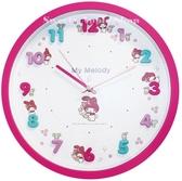 日本限定 三麗鷗 美樂蒂 可愛立體數字 連續秒針 壁掛時鐘