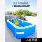 充氣游泳池 兒童充氣游泳池家用嬰兒寶寶游泳桶加厚折疊超大號成人小孩戲水池