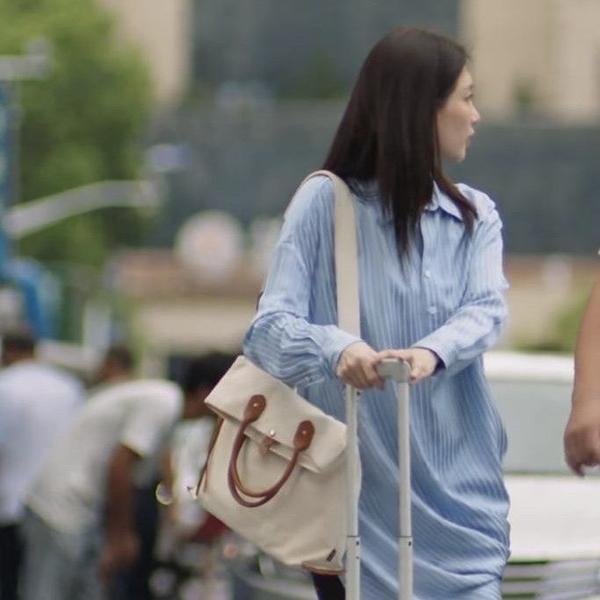 年底促銷 網劇三十而已江疏影王漫妮同款斜跨包時尚單肩包輕便帆布公文包包