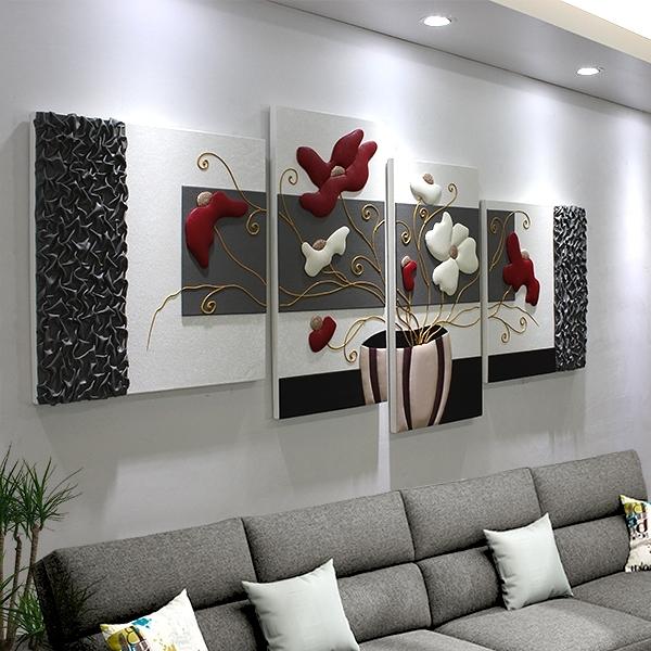沙發背景牆裝飾畫客廳無框畫電視牆挂畫家居裝飾壁畫3D立體浮雕畫