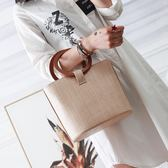 手提包 新款潮韓版簡約復古圓環手提包LJ8181『miss洛羽』