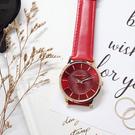 RELAX TIME Classic 經典系列手錶-玫瑰金框x紅/36mm RT-88-9L