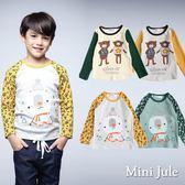 Mini Jule男童 上衣 星星小熊英文字母/滑雪熊滿版雪花袖長袖T恤(共4款)