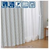 遮光隔熱窗簾 G PATTERN BL 100×178×1 NITORI宜得利家居