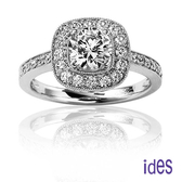 ides愛蒂思 精選設計款1克拉八心八箭鑽石戒指/結婚戒求婚戒