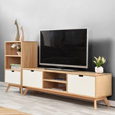 實木電視櫃整裝簡約現代客廳小戶型電視機櫃家具組合套裝北歐地櫃 xw全館滿千88折