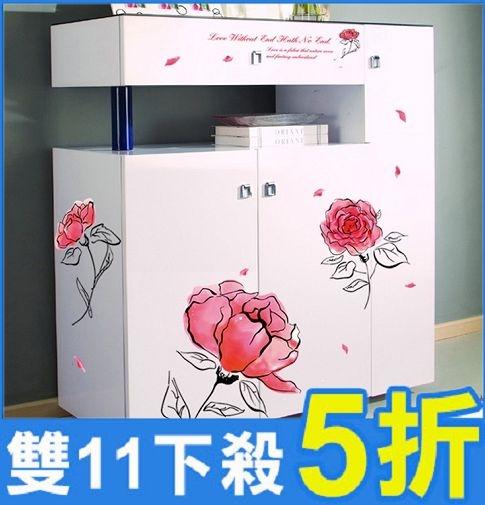壁貼-粉色花 AY7234-574【AF01013-574】i-Style居家生活