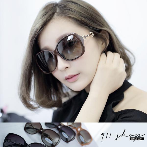 Crystal.MIT台灣製。晶透雙D字皮帶方框偏光太陽眼鏡【f591】*911 SHOP*