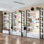 展示櫃產品化妝品超市貨架展示架倉儲家用鞋店鞋架包包貨櫃置物架CY 自由角落
