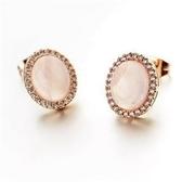 耳環 玫瑰金 925純銀鑲鑽-精緻迷人生日情人節禮物女飾品2色73gs101【時尚巴黎】