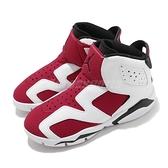 Nike Jordan 6 Retro Little Flex PS 白 紅 童鞋 中童鞋 AJ6 胭脂紅 【ACS】 CT4416-106