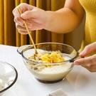 雙耳玻璃碗茶色早餐水果甜品沙拉湯碗學生泡面碟碗盤餐具套裝家用 果果輕時尚