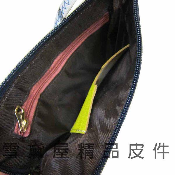 ~雪黛屋~SANDIA-POLO化妝包可放5吋手機零錢分類包手拿包進口專櫃超輕防水防刮皮革J136-643