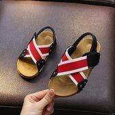 兒童鞋子 男寶涼鞋兒童防滑牛筋底男童鞋黑色沙灘鞋 歐萊爾藝術館
