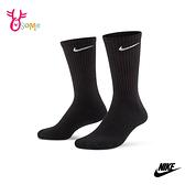 NIKE襪子 長襪 基本款 (三雙入) 運動襪 訓練襪 羅紋足弓帶設計 厚襪底 排汗 透氣 SX501#黑色