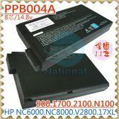 HP 電池-惠普 電池-NX5000,NW8000,EVO N1000,N1015v,239551-001,240258-00,234219-B21 系列 COMPAQ 筆電電池
