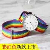 錶帶 拉菲娜dw手錶帶男女通用防水尼龍帆布帶綠茶針扣配件創意彩色錶鍊 古梵希