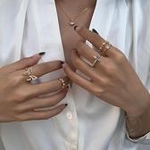 食指指環百搭配開口戒指時尚個性【小酒窝服饰】