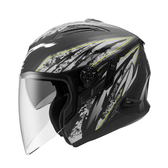 【ZEUS 瑞獅 ZS 613B AJ5 雄霸 3/4罩 安全帽 消光黑銀 】內襯全可拆洗、免運費