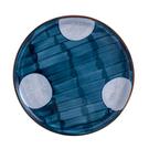 藍黛陶瓷8吋平盤-圓點
