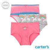 【美國 carter s】彩虹獨角獸3件組內褲(三角)-台灣總代理
