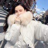 工廠批發價不退換實拍1807#韓國大東門秋冬裝羽絨服女大毛領學生面包服棉衣外套網紅(F1046)