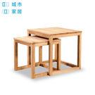 【城市家居-綠的傢俱集團】套疊式實木雙茶...