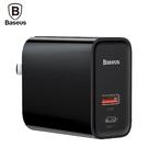 Baseus 倍思 風馳 USB-PD/QC3.0 30W USB-A+USB-C 雙孔 充電器 CA-BS-T01