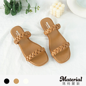 拖鞋 編織雙細帶平底拖鞋 MA女鞋 T78908