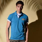 【JEEP】網路限定 純色經典POLO衫-天藍色