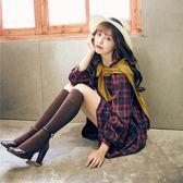 豎條紋及膝襪學院風保暖襪子日系長筒襪過膝襪女士棉襪高筒襪