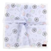 CLATHAS 山茶花花束純綿帕巾(粉紫色)989265-9