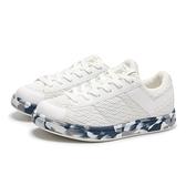 PONY 休閒鞋 PRO EG 白 網布 灰藍迷彩底 金扣 輕量 百搭 女 (布魯克林) 82W1PR02RW