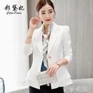 外套 彩黛妃春季新款韓版大碼顯瘦時尚百搭女裝西服休閒潮流小西裝