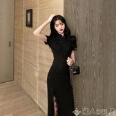 2020年夏季新款法式復古性感改良版長款旗袍年輕款氣質連身裙少女 潮人