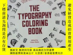 二手書博民逛書店The罕見Typography Coloring Book: C
