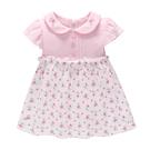 短袖洋裝 Luvena Fortuna 小童 翻領短袖包屁洋裝 - 粉紅小碎花 H9630