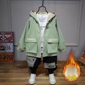 兒童風衣外套男童秋冬裝2019新款洋氣韓版中長款加厚加絨寶寶潮衣-ifashion