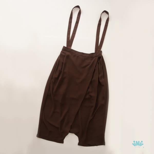 viNvi Lady 雪紡打摺休閒吊帶褲 袋鼠褲 飛鼠褲 哈倫褲