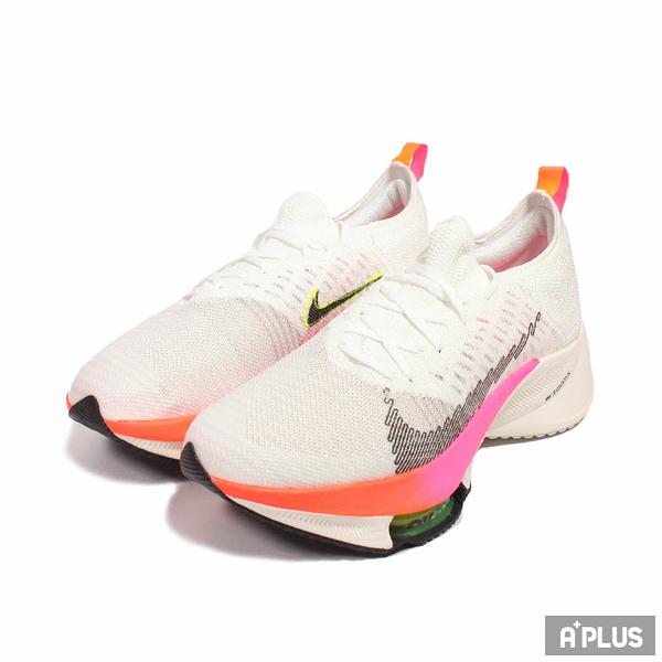 NIKE 男 慢跑鞋 AIR ZOOM TEMPO NEXT% FK 氣墊 避震 白粉-DJ5430100